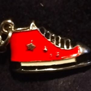 Necklace with heavy converse sneaker